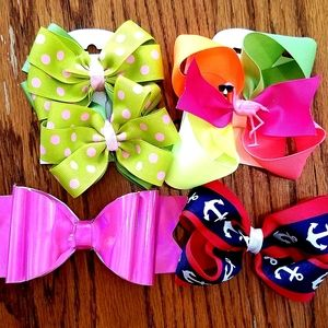 Summer hair bows set